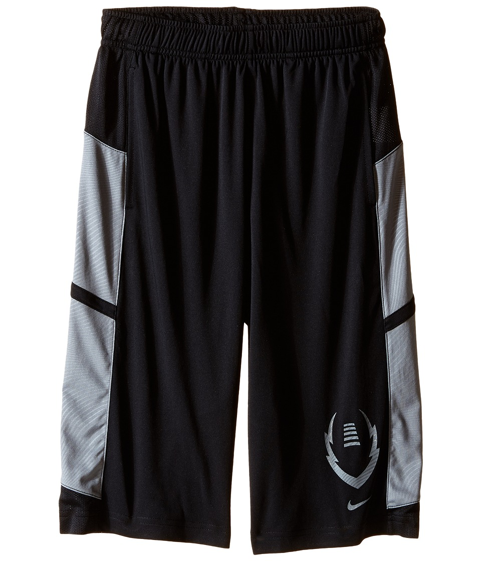 Nike Kids - Football Gear Up Shorts (Little Kids/Big Kids) (Black/Cool Grey/Cool Grey) Boy's Shorts