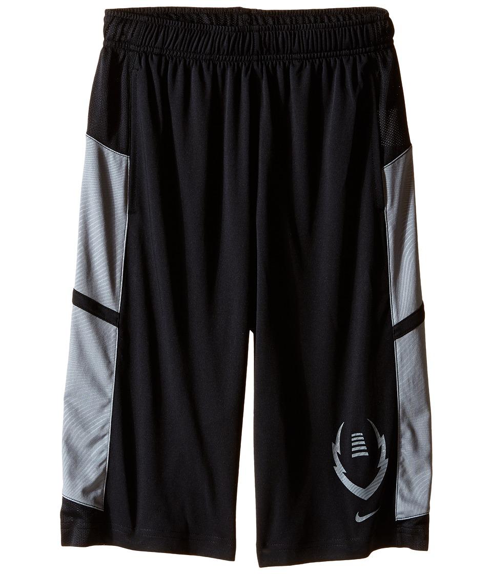 Nike Kids - Football Gear Up Shorts (Little Kids/Big Kids) (Black/Cool Grey/Cool Grey) Boy's Shorts