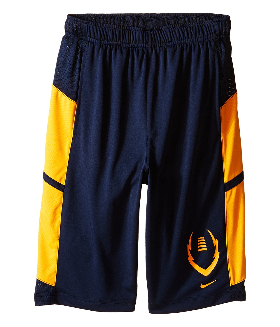 Nike Kids - Football Gear Up Shorts (Little Kids/Big Kids) (Obsidian/Vivid Orange/Vivid Orange) Boy's Shorts