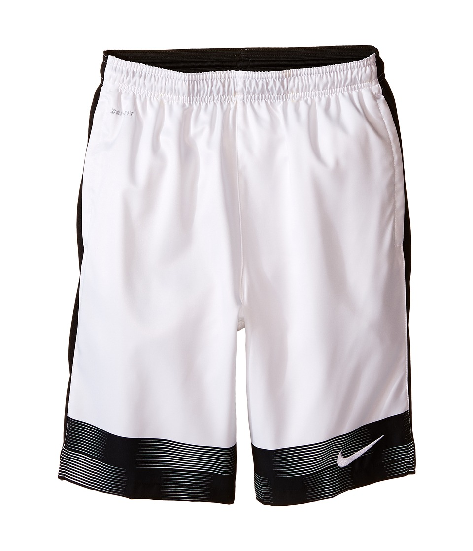 Nike Kids - Strike Graphic Woven Soccer Short (Little Kids/Big Kids) (White/Black/White) Boy's Shorts
