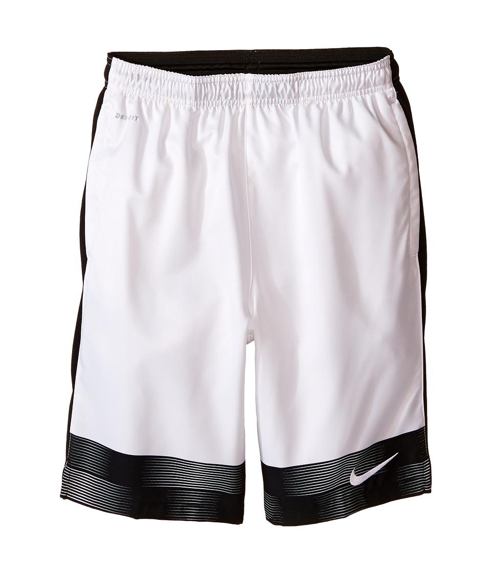Nike Kids - Strike Graphic Woven Soccer Short (Little Kids/Big Kids) (White/Black/White) Boy's Shorts