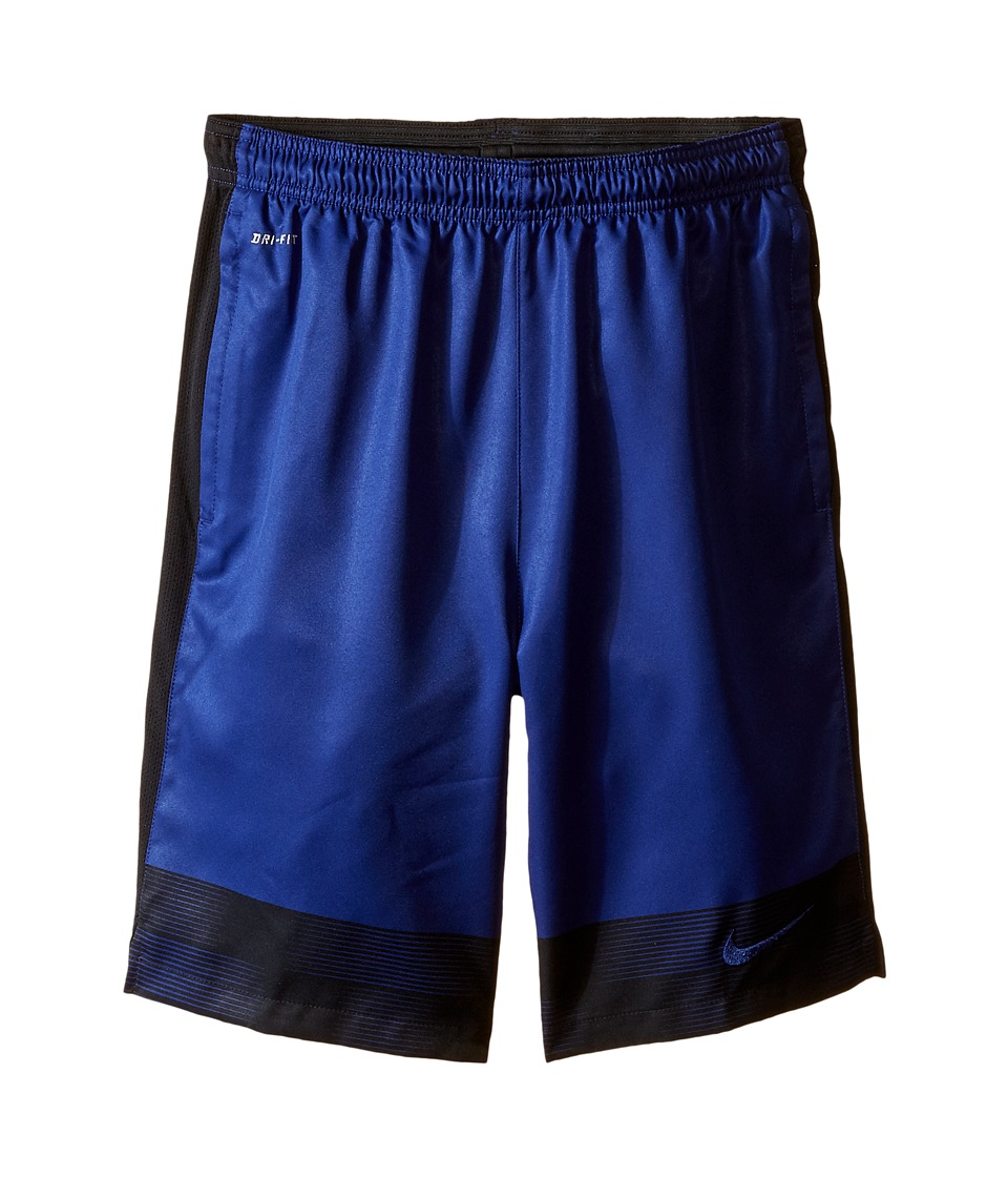 Nike Kids - Strike Graphic Woven Soccer Short (Little Kids/Big Kids) (Deep Royal Blue/Black/Deep Royal Blue) Boy's Shorts