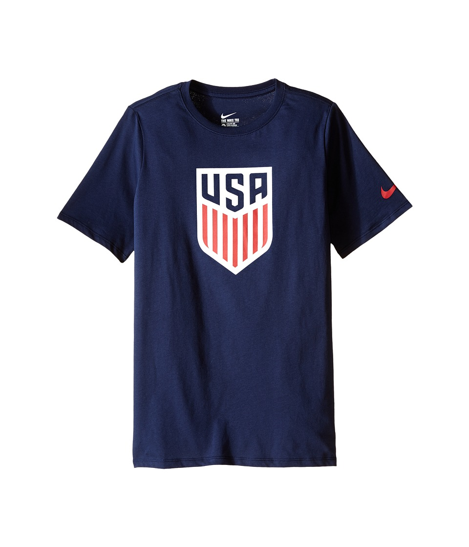 Nike Kids - USA Crest Tee (Little Kids/Big Kids) (Obsidian/Obsidian) Boy's T Shirt