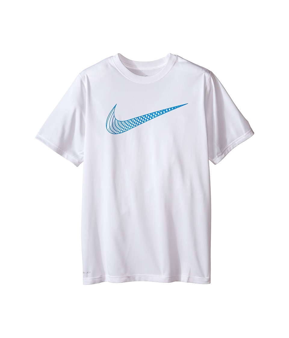 Nike Kids - Leg Training Cat Hook Tee (Little Kids/Big Kids) (White) Boy's T Shirt