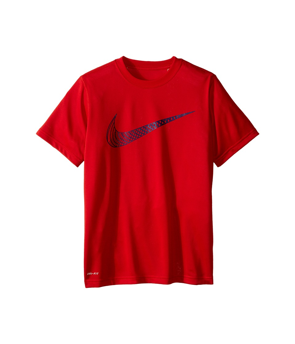 Nike Kids - Leg Training Cat Hook Tee (Little Kids/Big Kids) (University Red) Boy's T Shirt