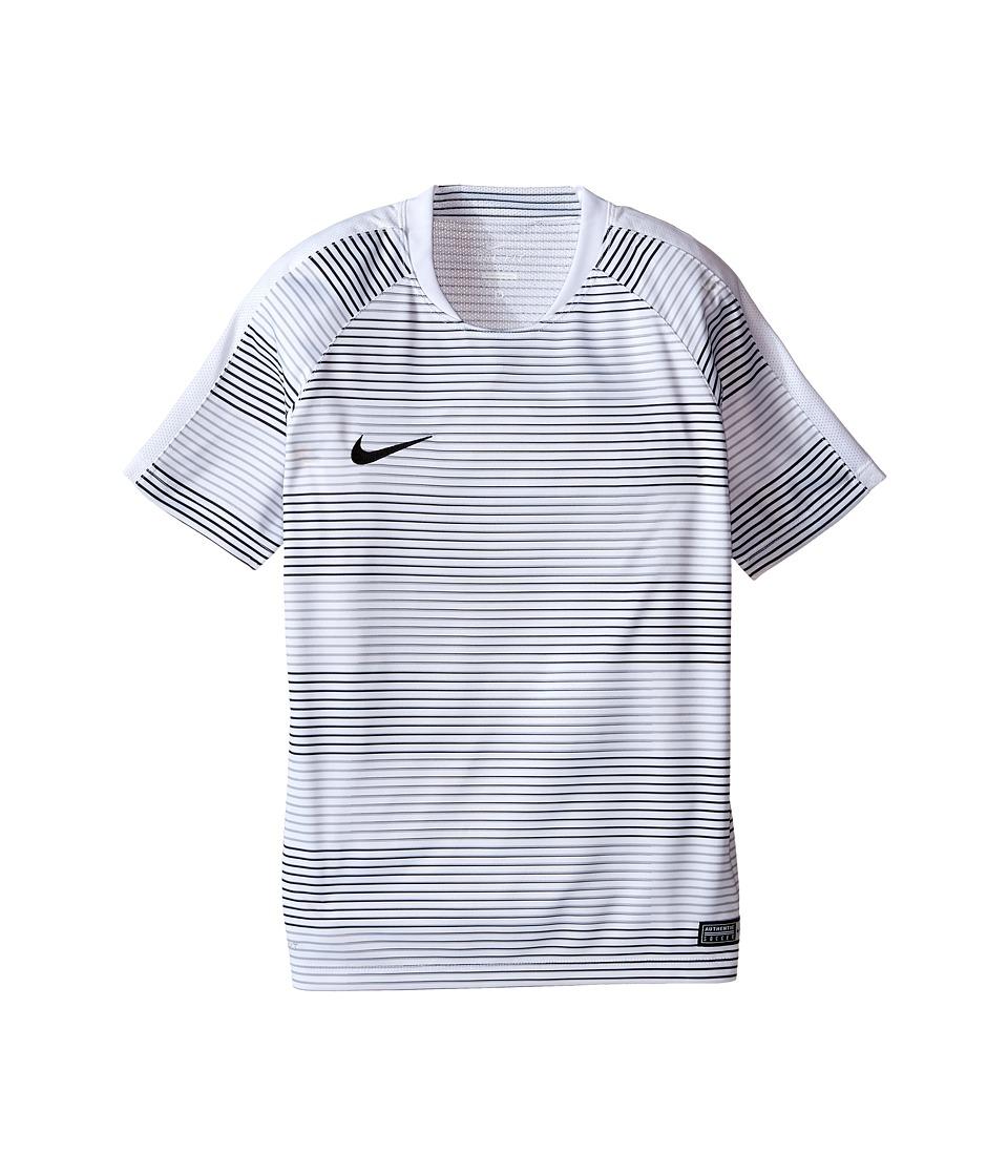 Nike Kids - Flash Graphic Soccer Shirt (Little Kids/Big Kids) (White/White/Black) Boy's Clothing