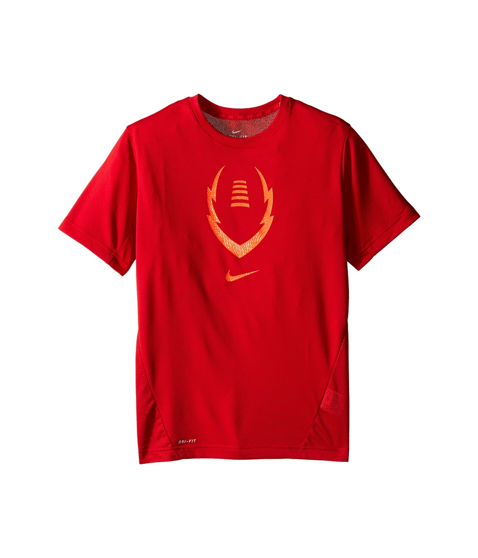 Nike Kids - Football Gear Up Short Sleeve Fitted Top (Little Kids/Big Kids) (Gym Red/Light Crimson) Boy's Clothing