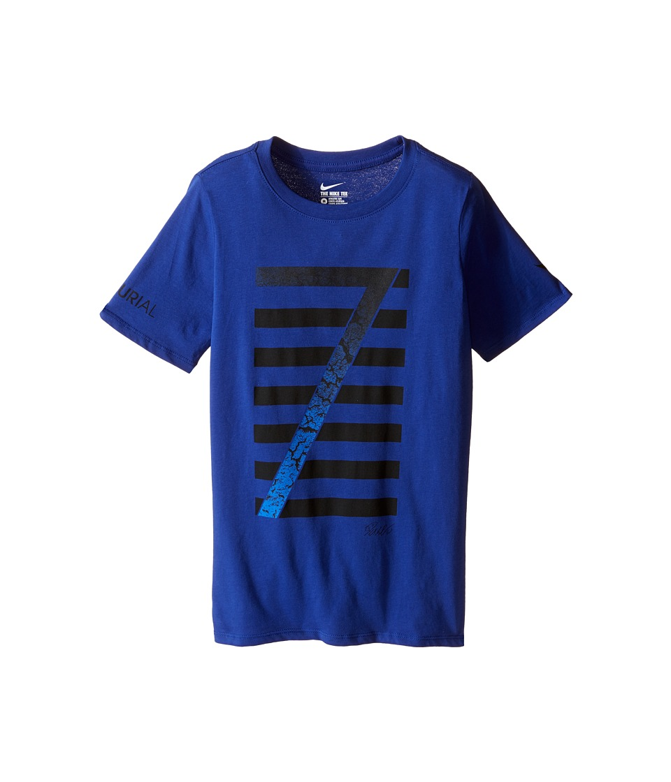 Nike Kids - Ronaldo Logo Tee (Little Kids/Big Kids) (Deep Royal Blue/Deep Royal Blue) Boy's T Shirt