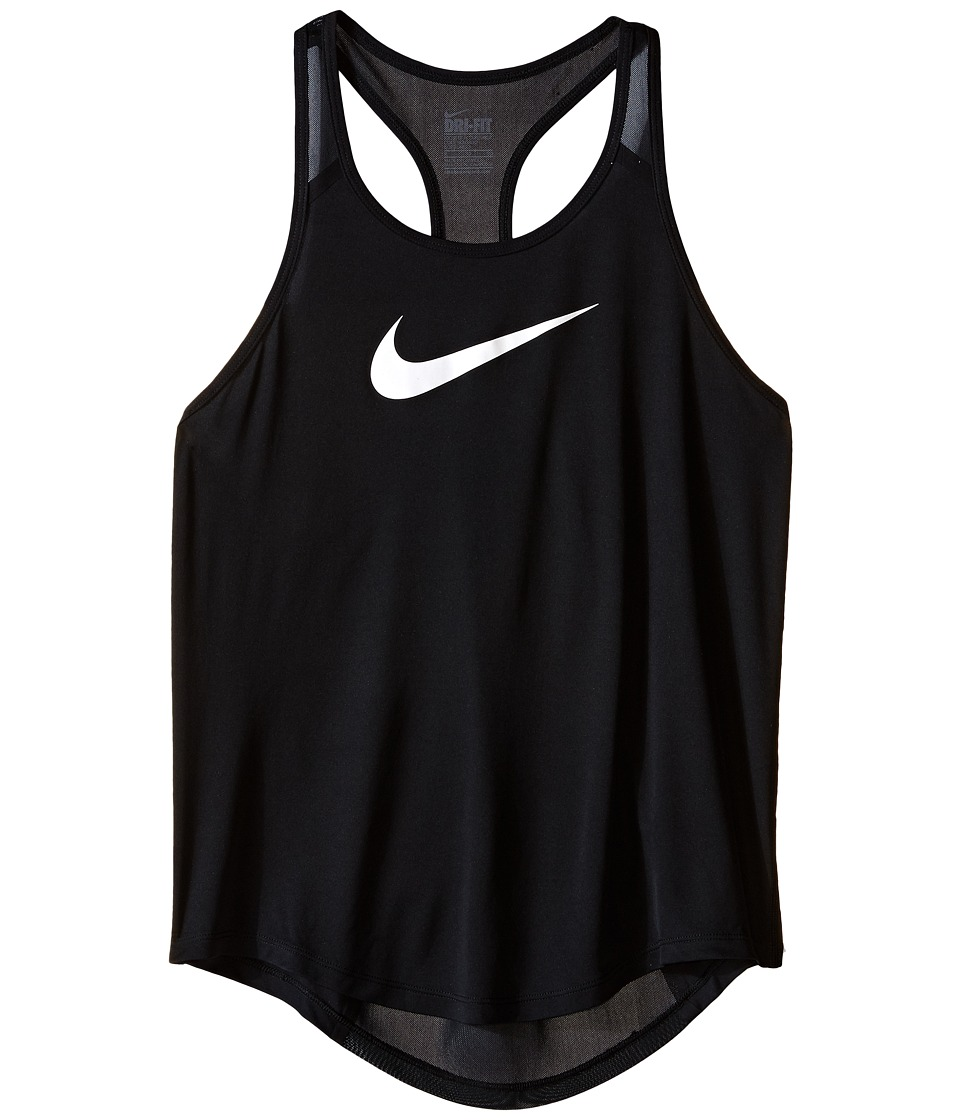 Nike Kids - Flow Training Tank Top (Little Kids/Big Kids) (Black/Black/Black/White) Girl's Sleeveless