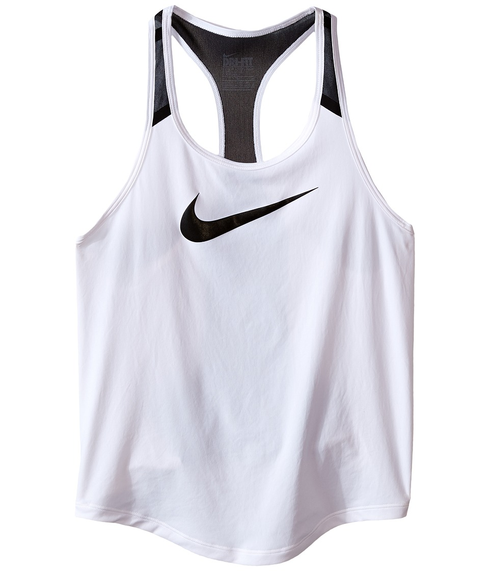 Nike Kids - Flow Training Tank Top (Little Kids/Big Kids) (White/Black/Black/Black) Girl's Sleeveless