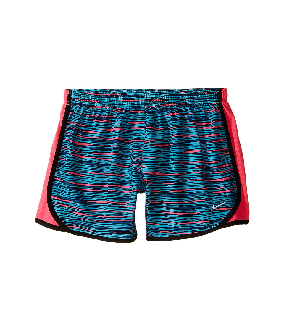 Nike Kids - Tempo Allover Print 1 Short (Little Kids/Big Kids) (Omega Blue/Hyper Pink/Hyper Pink/White) Girl's Shorts