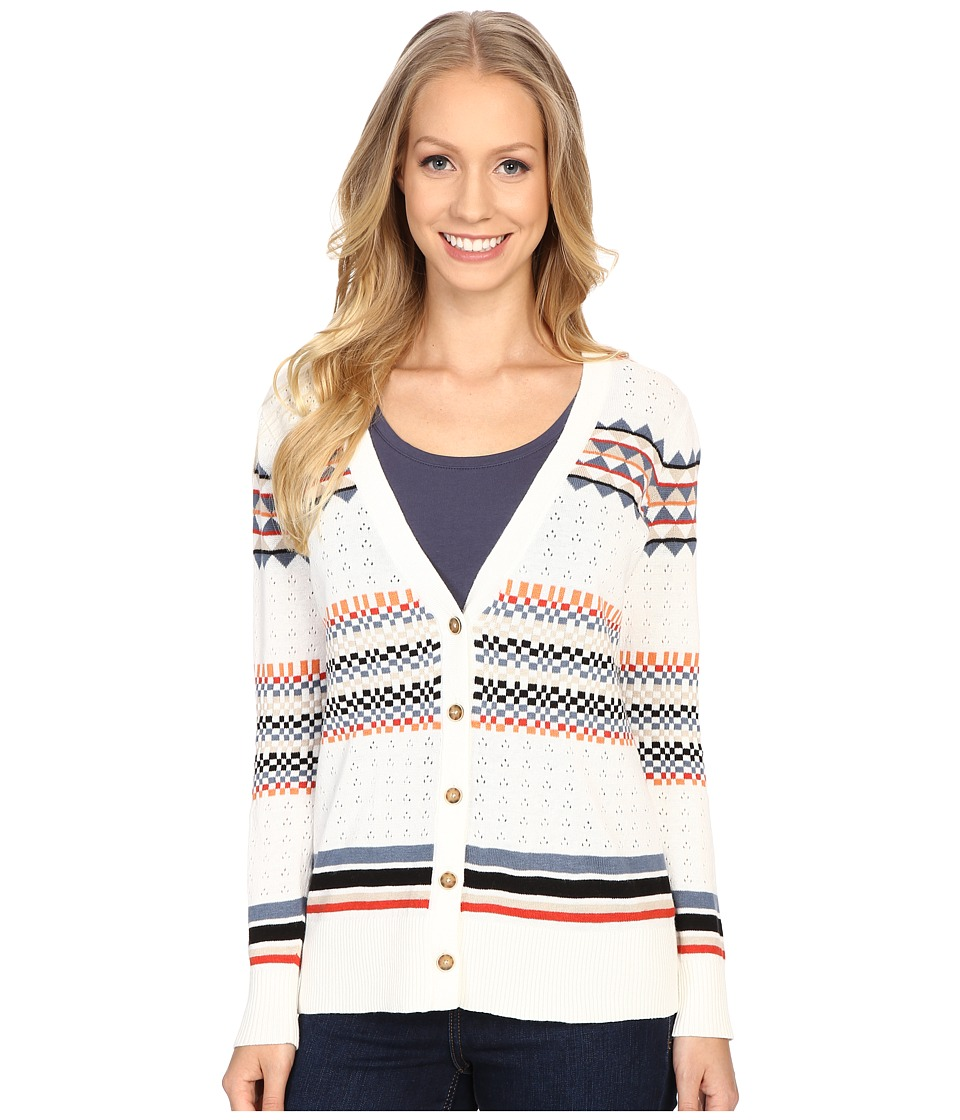 Pendleton - Stripe Cardigan (Ivory Multi) Women's Sweater