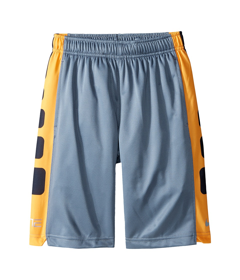 Nike Kids - Elite Stripe Short (Little Kids/Big Kids) (Cool Grey/Vivid Orange/Metallic Silver) Boy's Workout