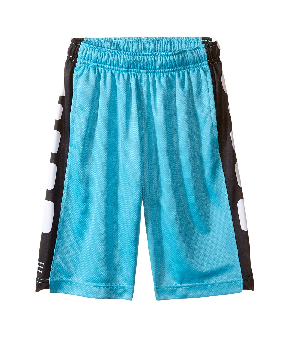 Nike Kids - Elite Stripe Short (Little Kids/Big Kids) (Omega Blue/Black/Metallic Silver) Boy's Workout