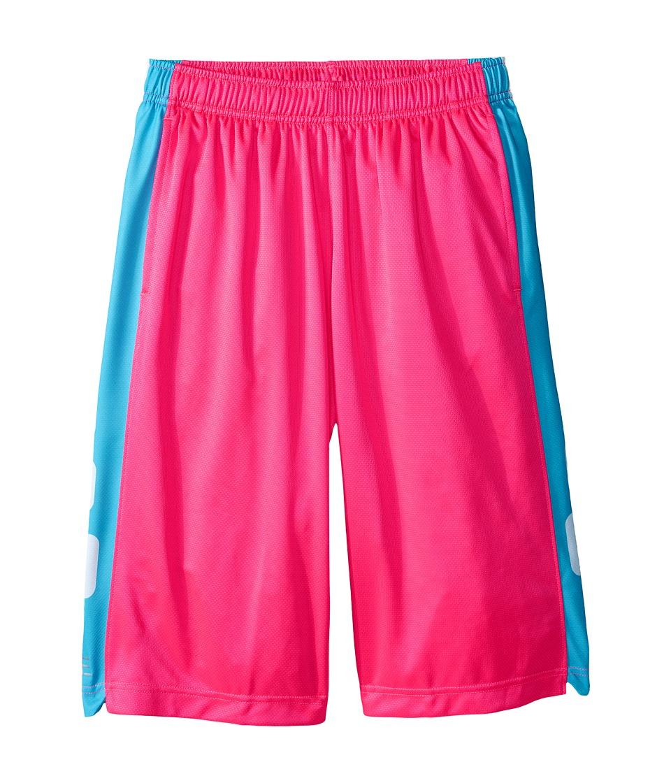 Nike Kids - Elite Stripe Short (Little Kids/Big Kids) (Hyper Pink/Omega Blue/Metallic Silver) Boy's Workout