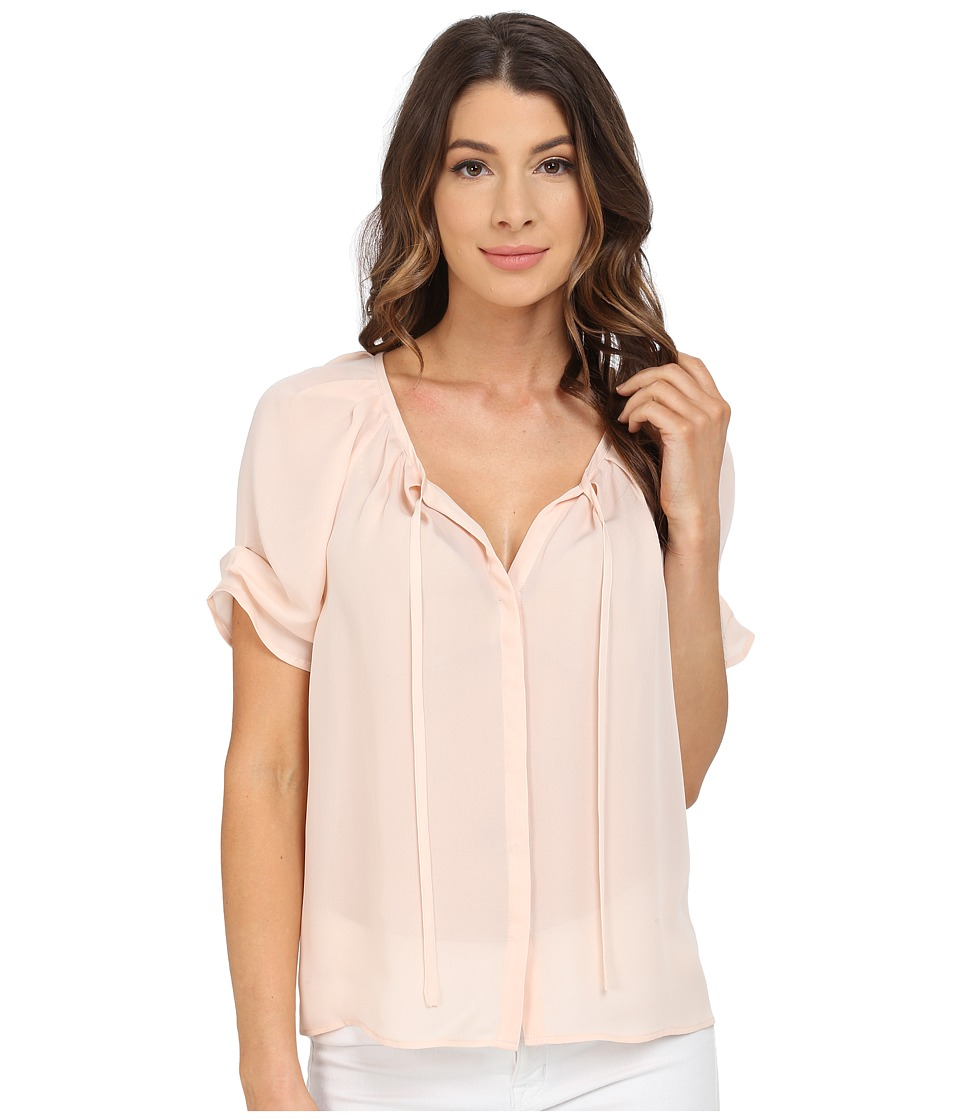 Joie - Berkeley Short Sleeve Top (White Rose) Women's Blouse