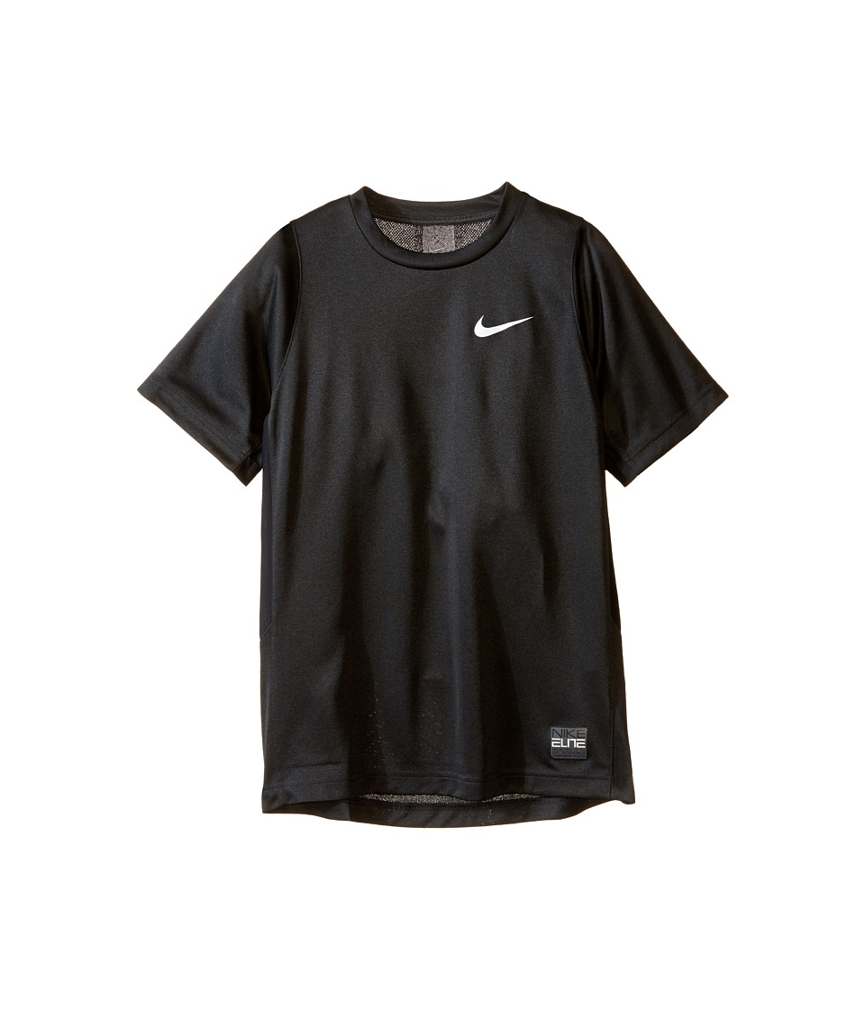 Nike Kids - Elite Basketball Shirt (Little Kids/Big Kids) (Black Heather/Black/Anthracite/White) Boy's Short Sleeve Pullover