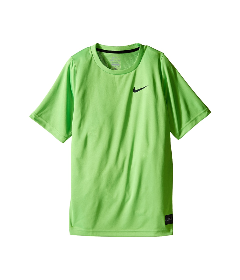 Nike Kids - Elite Basketball Shirt (Little Kids/Big Kids) (Action Green/Action Green/Black/Black) Boy's Short Sleeve Pullover