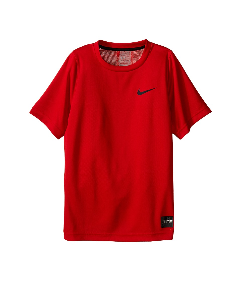 Nike Kids - Elite Basketball Shirt (Little Kids/Big Kids) (University Red/University Red/Black) Boy's Short Sleeve Pullover