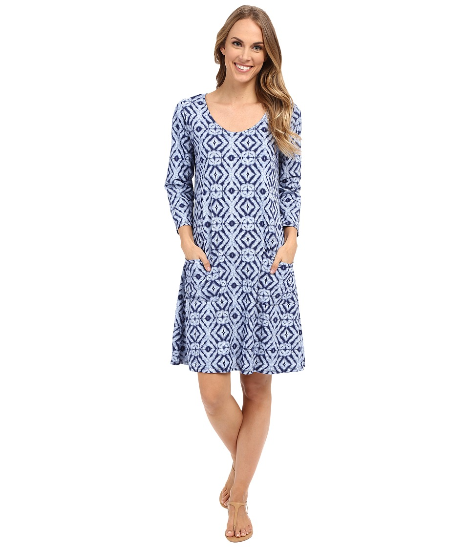 Fresh Produce - Shibori Dalia Dress (Moonlight) Women's Dress