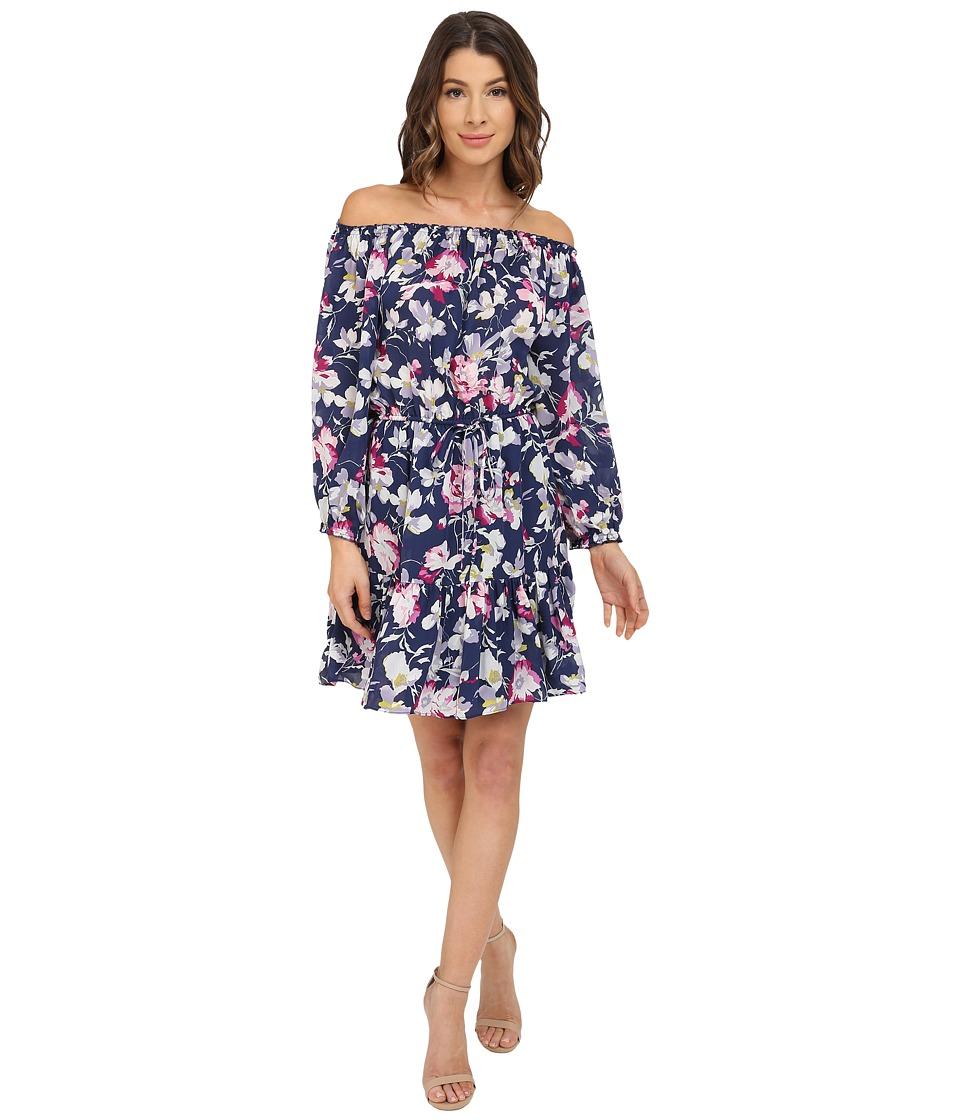 Joie - Marx Dress (Dark Navy/Bright Freesia) Women's Dress