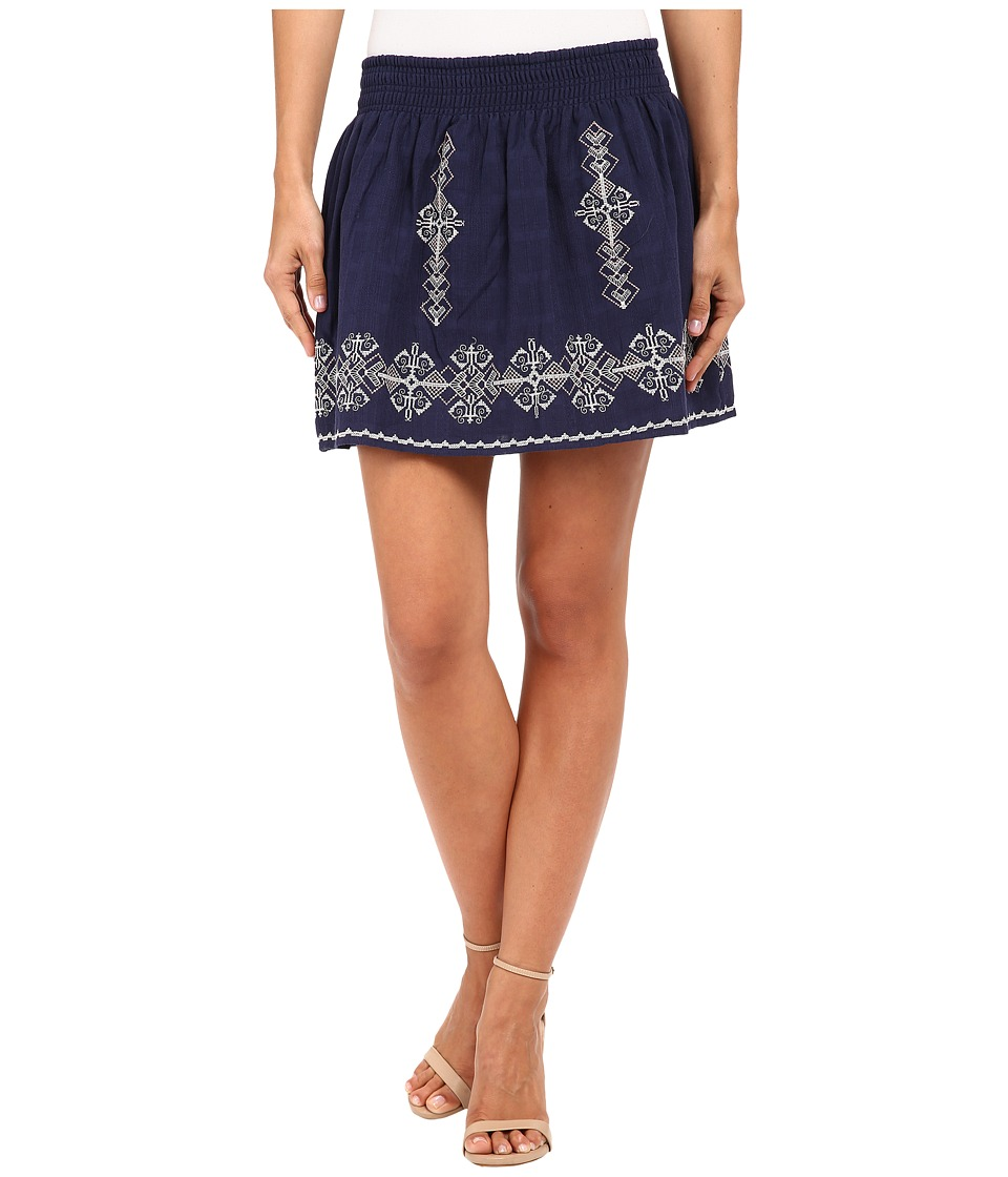 Joie - Almanza Skirt (Dark Navy/Porcelain) Women's Skirt