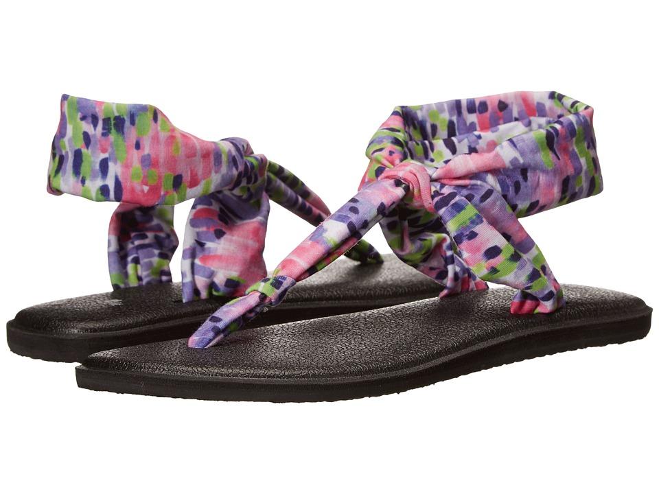 Sanuk - Yoga Sling Ella Prints (Iris Rain) Women's Sandals