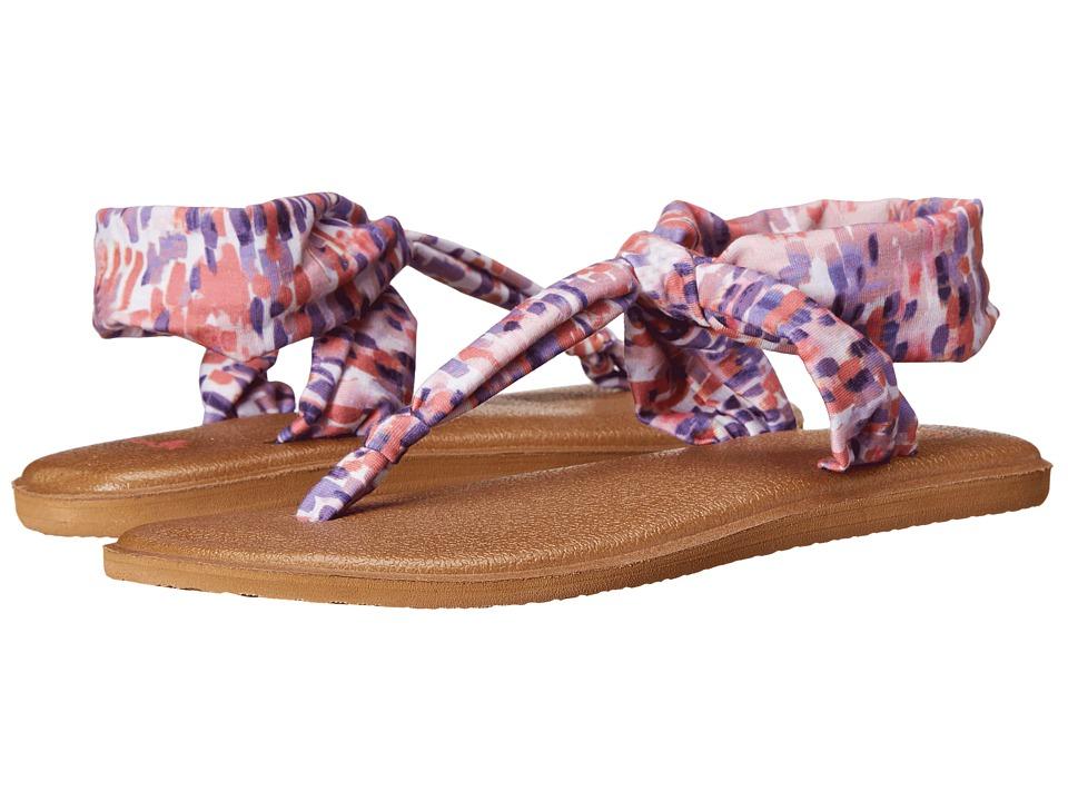 Sanuk - Yoga Sling Ella Prints (Spiced Coral Rain) Women's Sandals