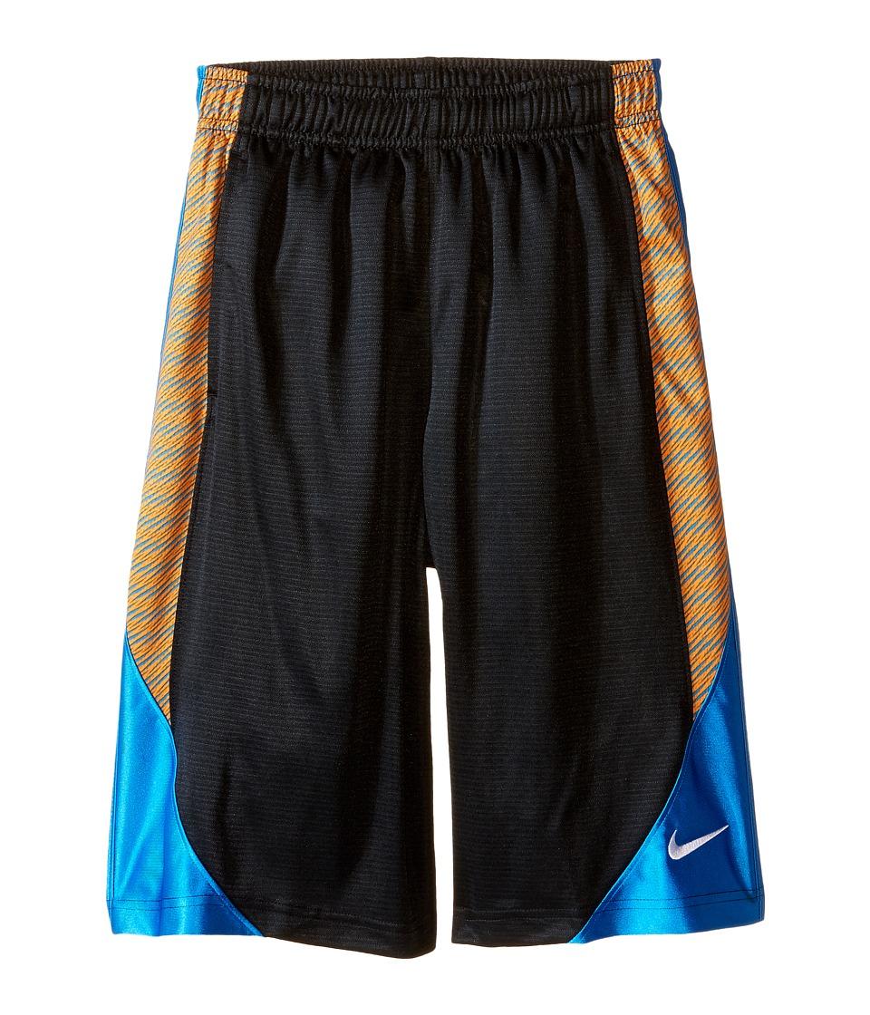 Nike Kids - Avalanche Aop6 Shorts (Little Kids/Big Kids) (Black/Photo Blue/Photo Blue/White) Boy's Shorts