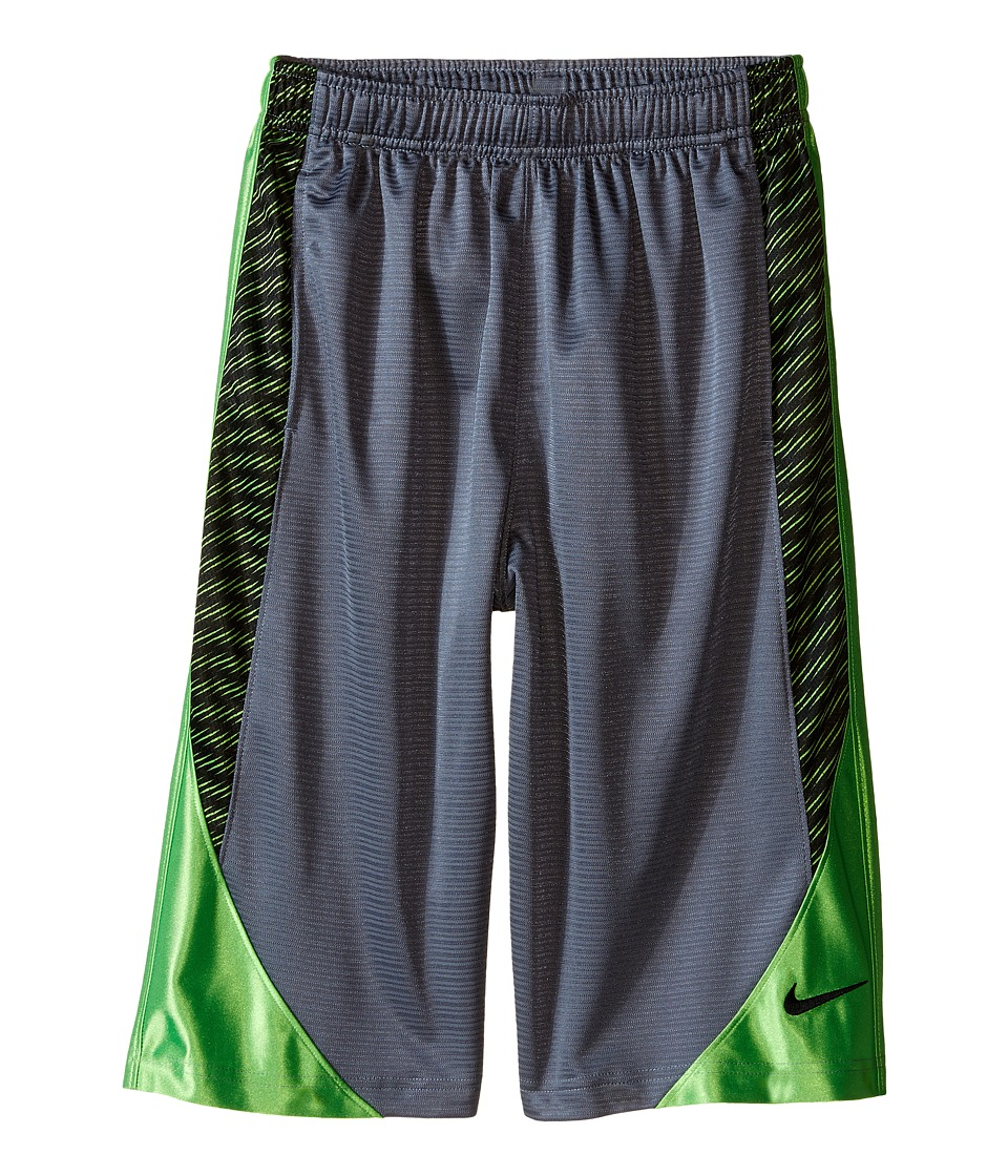Nike Kids - Avalanche Aop6 Shorts (Little Kids/Big Kids) (Cool Grey/Action Green/Black) Boy's Shorts