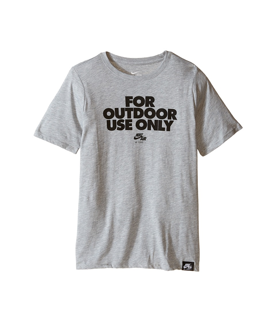 Nike Kids - AF1 Outdoor Use TD Tee (Little Kids/Big Kids) (Dark Grey Heather) Boy's T Shirt
