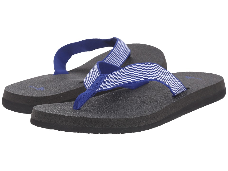 Sanuk - Yoga Mat Webbing (Deep Blue/Off-White) Women's Sandals
