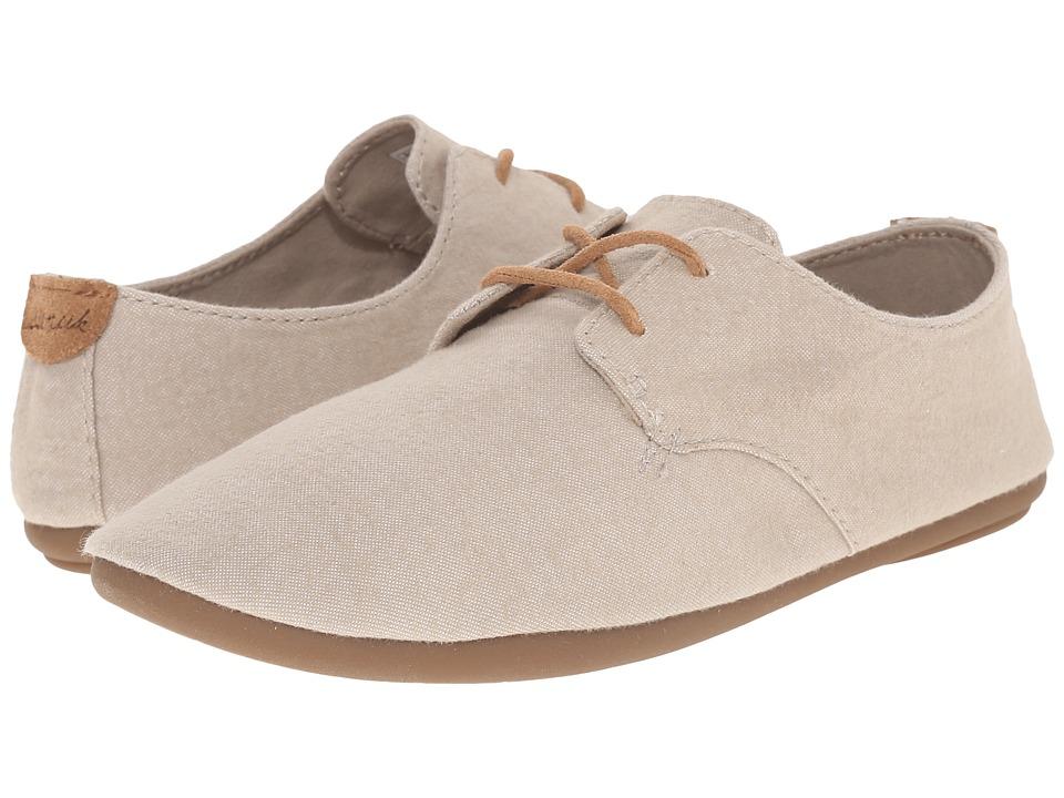 Sanuk - Bianca TX (Natural Chambray) Women's Slip on Shoes