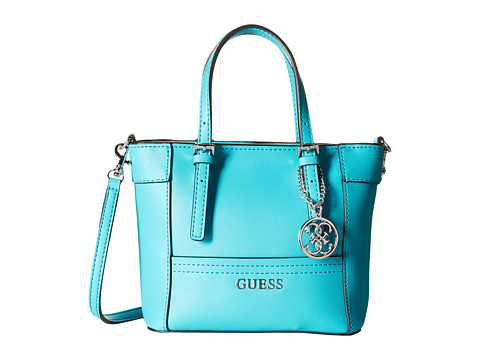 GUESS - Delaney Petite Tote (Aqua) Tote Handbags
