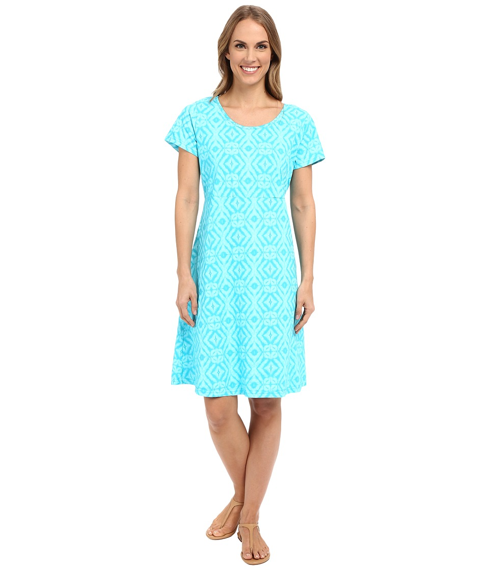 Fresh Produce - Shibori Sadie Dress (Luna Turquoise) Women's Dress