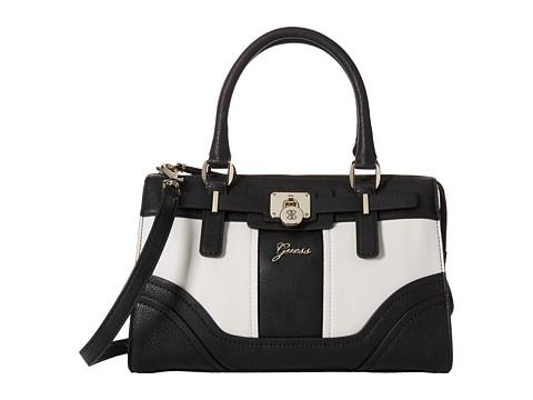 GUESS - Greyson Small Satchel (Black Multi) Satchel Handbags