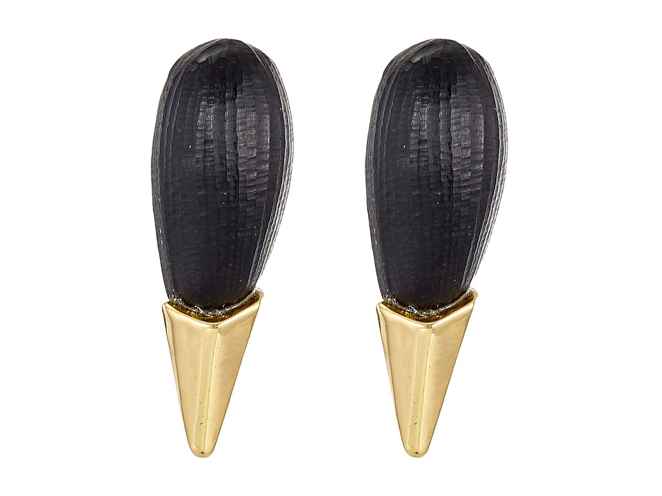 Alexis Bittar - Liquid Metal Capped Spike Post Earrings (Black) Earring