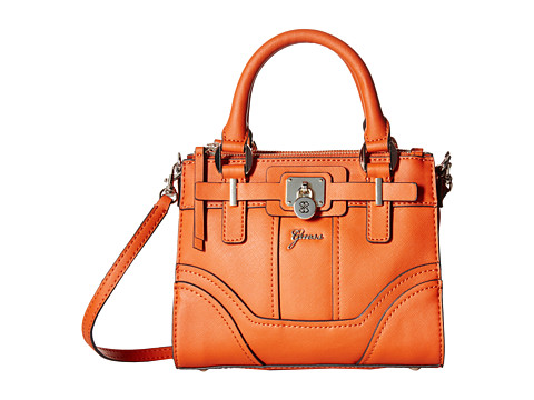 GUESS - Greyson Petite Nouveau Status Mini Bag (Orange) Handbags