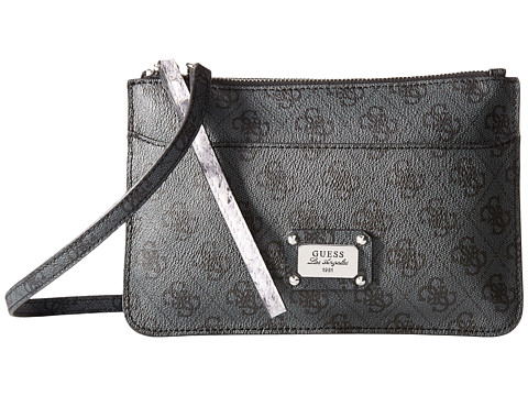 GUESS - Escapade Petite 2-In-1 Crossbody Clutch (Coal) Cross Body Handbags