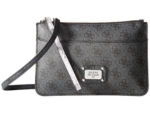 GUESS - Escapade Petite 2-In-1 Crossbody Clutch (Coal) Cross Body Handbags