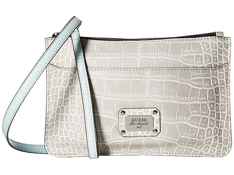 GUESS - Escapade Petite 2-In-1 Crossbody Clutch (Dove) Cross Body Handbags