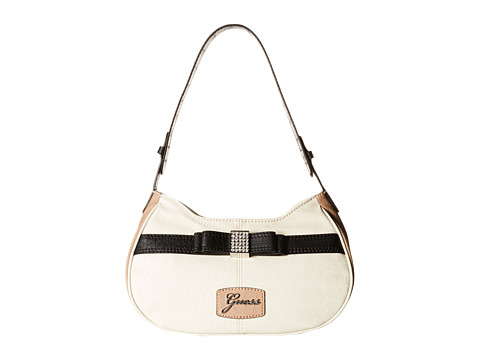 GUESS - Hesperia Top Zip (Creme Multi) Shoulder Handbags