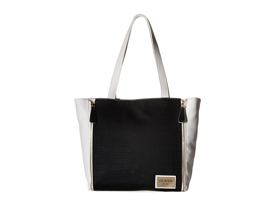 GUESS - Kingstown Tote (Black Multi) Tote Handbags
