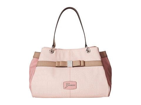 GUESS - Hesperia Satchel (Blush Multi) Satchel Handbags