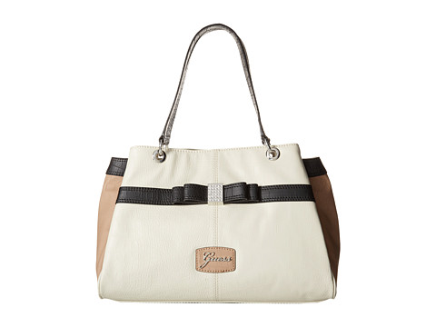 GUESS - Hesperia Satchel (Creme Multi) Satchel Handbags