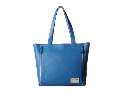 GUESS - Kingstown Tote (Blue) Tote Handbags