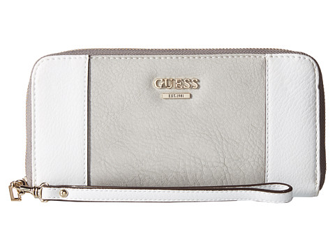 GUESS - Huntley SLG Large Zip Around (Dove Multi) Clutch Handbags
