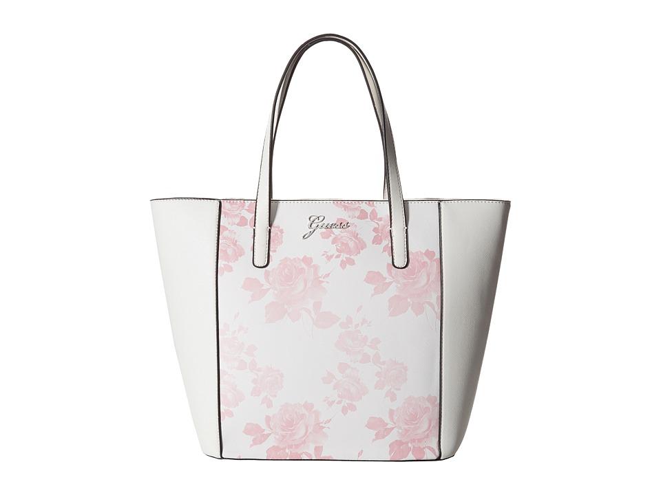 Upc 885935783958 Product Image For Guess Sonja Medium Carryall Pink Multi Handbags