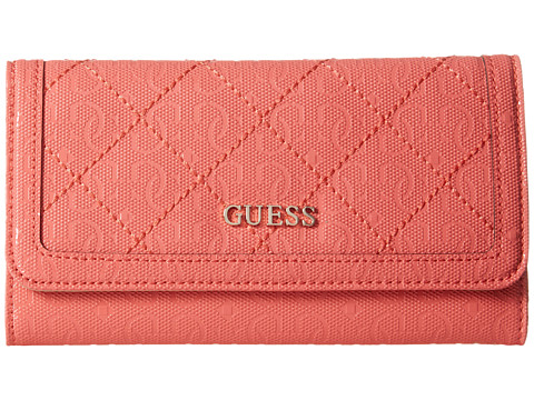 GUESS - Romeo SLG Slim Clutch (Coral) Clutch Handbags