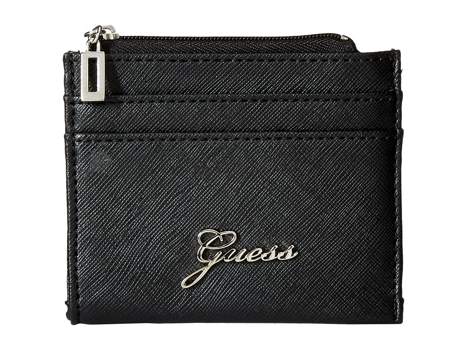 GUESS - Sonja SLG Small Zip Organizer/Wallet (Black) Coin Purse